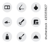 set of 9 editable meal icons....