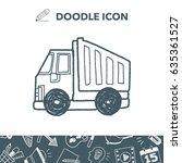 truck doodle | Shutterstock .eps vector #635361527