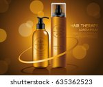 make up and skincare packaging...   Shutterstock .eps vector #635362523