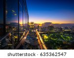 evening period cityscape at... | Shutterstock . vector #635362547