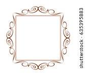 frames vintage.brown on white... | Shutterstock .eps vector #635395883