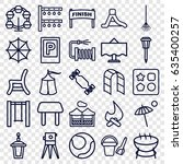 outdoor icons set. set of 25... | Shutterstock .eps vector #635400257