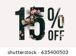 brilliant promotion sale poster ... | Shutterstock . vector #635400503