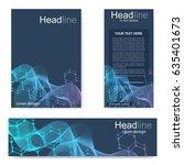 set flyer  brochure size a4...   Shutterstock .eps vector #635401673