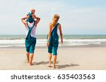 funny portrait of happy family. ... | Shutterstock . vector #635403563