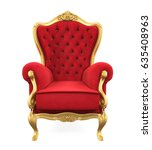 throne chair isolated. 3d...   Shutterstock . vector #635408963