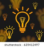 lamp bulb icon brown background ... | Shutterstock .eps vector #635412497