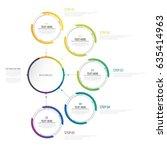 infographics number options... | Shutterstock .eps vector #635414963