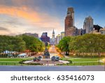beautiful philadelphia skyline... | Shutterstock . vector #635416073