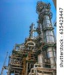 oil refinery industrial plant    Shutterstock . vector #635423447