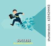 never dream about success  get... | Shutterstock .eps vector #635424443
