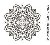 mandala. ethnic decorative... | Shutterstock .eps vector #635427827