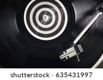 a vinyl record close up on a... | Shutterstock . vector #635431997