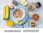 full delicious vegeterian... | Shutterstock . vector #635433233