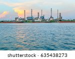 close up industrial view at oil ... | Shutterstock . vector #635438273