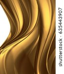 wave of liquid gold on white... | Shutterstock . vector #635443907
