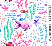 crayon childlike marin seamless