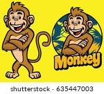 set of cartoon monkey character | Shutterstock .eps vector #635447003