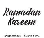 ramadan kareem. text design ...   Shutterstock .eps vector #635455493