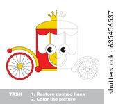 princess chariot. dot to dot...   Shutterstock .eps vector #635456537