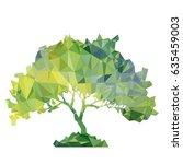 vector polygonal silhouette of... | Shutterstock .eps vector #635459003