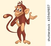 Cartoon Funny Chimpanzee Monke...