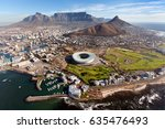 aerial view of cape peninsula ... | Shutterstock . vector #635476493
