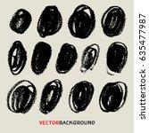 chalk texture background... | Shutterstock .eps vector #635477987