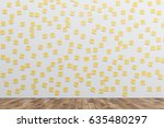 white wall is covered by many... | Shutterstock . vector #635480297
