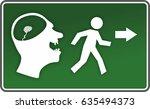 abstract running figure  beware ...   Shutterstock . vector #635494373