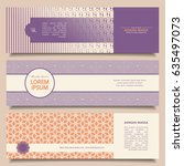 set of abstract banners with... | Shutterstock .eps vector #635497073