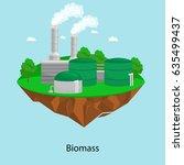 alternative energy power... | Shutterstock .eps vector #635499437