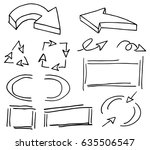 illustration of hand drawn... | Shutterstock . vector #635506547