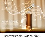 cosmetic ads template  glass... | Shutterstock .eps vector #635507093