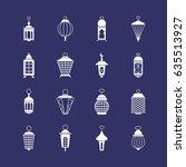 antique arabic ramadan light...   Shutterstock .eps vector #635513927