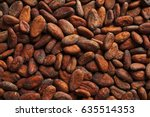 aromatic cocoa beans as... | Shutterstock . vector #635514353