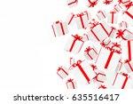 3d gift boxes on white...   Shutterstock . vector #635516417