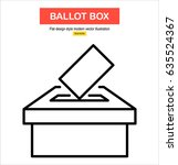 vector ballot box icon. voting  ... | Shutterstock .eps vector #635524367