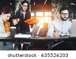 startup team working with... | Shutterstock . vector #635526203