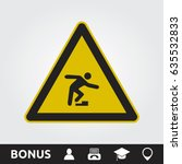 watch your step sign | Shutterstock .eps vector #635532833