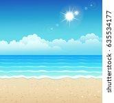 vector illustration of tropical ... | Shutterstock .eps vector #635534177
