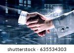 business partners greeting each ...   Shutterstock . vector #635534303
