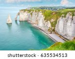the famous white cliffs of... | Shutterstock . vector #635534513