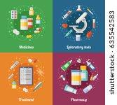 medical illustration set with... | Shutterstock .eps vector #635542583