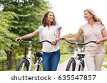 two mature women in... | Shutterstock . vector #635547857