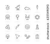 science experiments vector line ... | Shutterstock .eps vector #635549093
