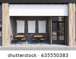 exterior of a cafe with gray... | Shutterstock . vector #635550383