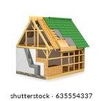 frame construction home.... | Shutterstock . vector #635554337