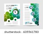 brochure template  flyer design ... | Shutterstock .eps vector #635561783