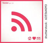 vector wifi web flat icon. | Shutterstock .eps vector #635564093